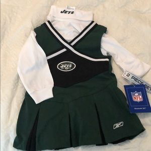 NWT jets cheerleader set